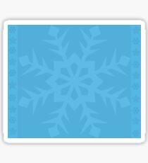 Blue Snowflake Sticker