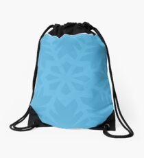 Blue Snowflake Drawstring Bag