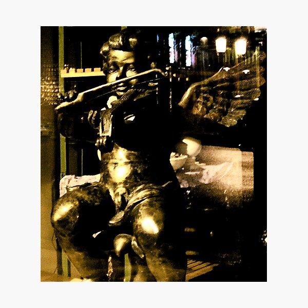 Cherubim Under Glass Photographic Print
