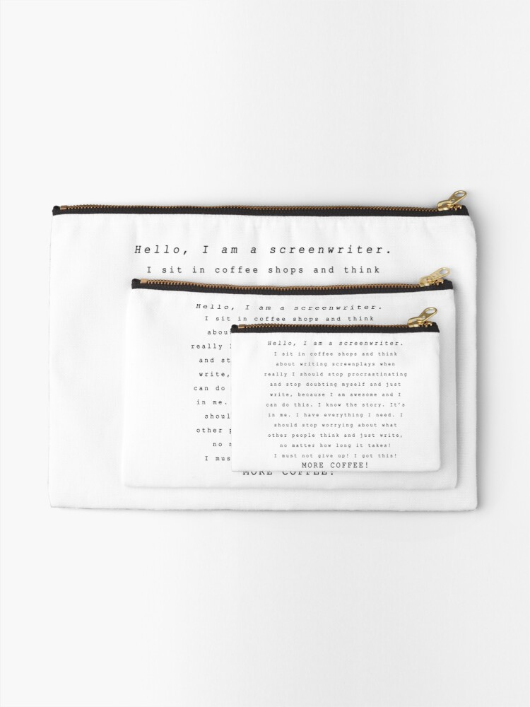 Alternate view of Screenwriters (Typewriter II) Zipper Pouch