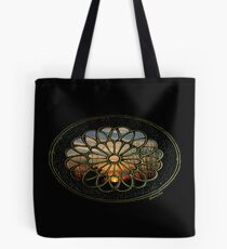 Medallion Window ~ Winter Sunset Tote Bag