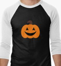 3b4d1f9f5 Cute Spooky Halloween Pumpkin Men's Baseball ¾ T-Shirt