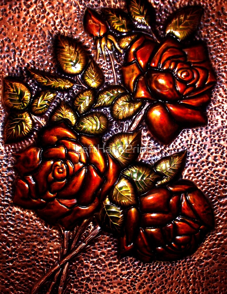 Copper Flowers by LeftHandPrints