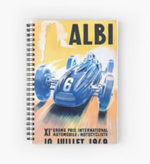 1949 Albi Grand Prix Automobile Race Poster Spiral Notebook