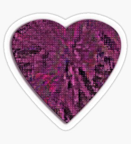 Pattern of the Heart Sticker