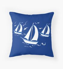 Racing Yachts Throw Pillow
