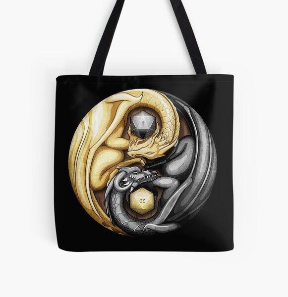 Balanced Dragons D20 All Over Print Tote Bag