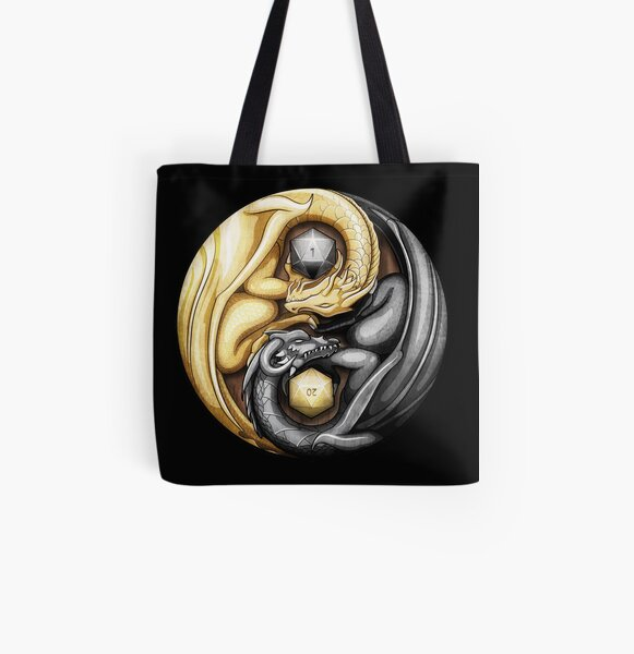 Balanced Dragons D20 All Over Print Tote Bag