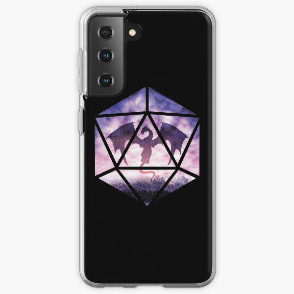 Purple Sky Dragon D20 Samsung Galaxy Soft Case