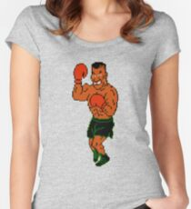 Mike Tyson - Punch Out  Women's Fitted Scoop T-Shirt
