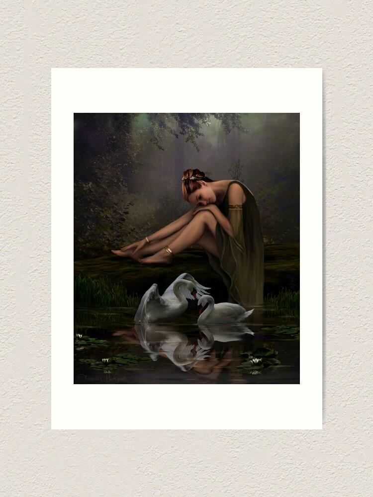 Alternate view of Swan Song Art Print