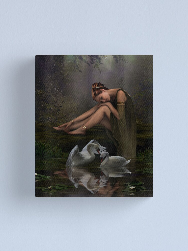 Alternate view of Swan Song Canvas Print