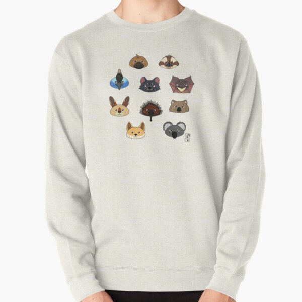 Just a bunch of cute australian animals - Australian animal design Pullover Sweatshirt