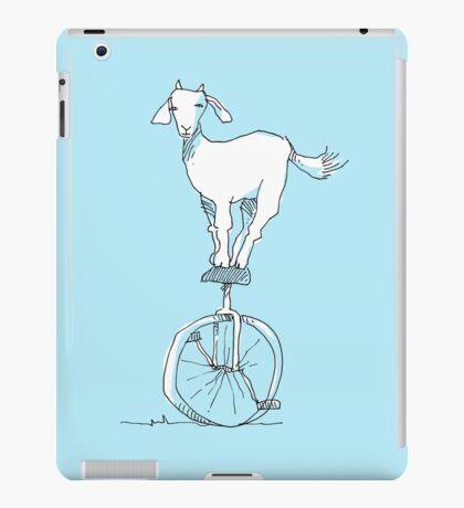 Goat on a unicycle iPad Case/Skin