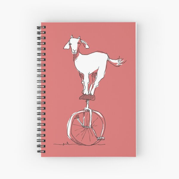 Goat on a unicycle Spiral Notebook