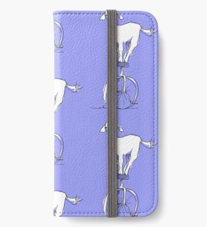 Goat on a unicycle iPhone Wallet