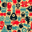 Old school robots by Ekaterina Panova