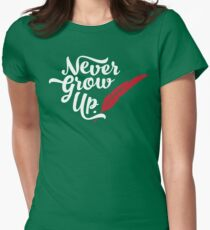 Peter Pan - Never Grow Up. Women's Fitted T-Shirt