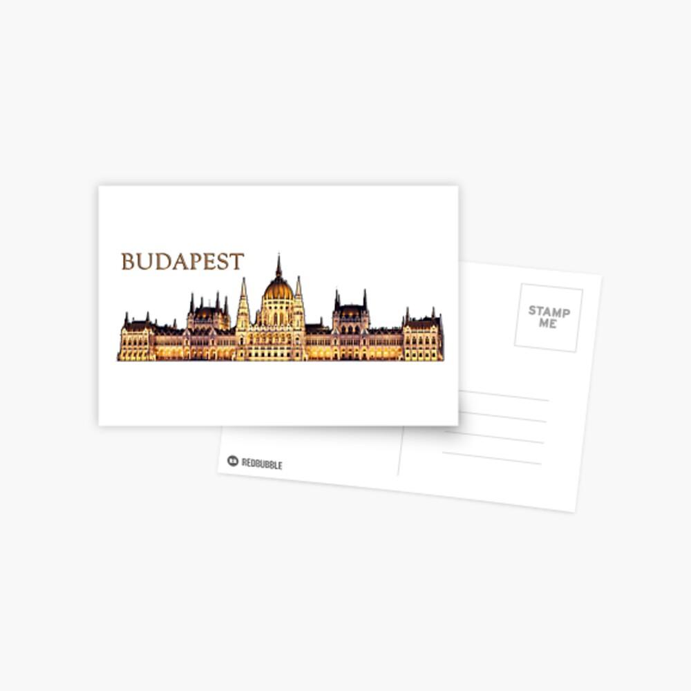 Budapest Travel Souvenir Postcard