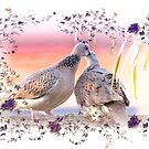 Doves in love 0016 by kevin chippindall