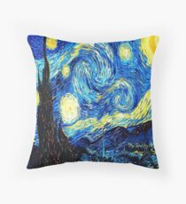 Starry Night - Vincent Van Gogh Throw Pillow