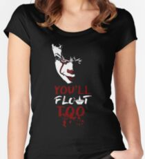 Stephen King's It - You'll Float Too (Pennywise) Women's Fitted Scoop T-Shirt
