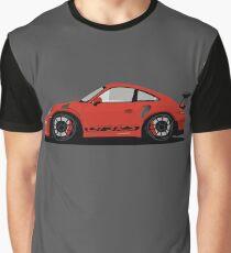 Porsche GT3 RS Red/Orange Graphic T-Shirt