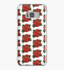 Neotraditional tattoo rose Samsung Galaxy Case/Skin