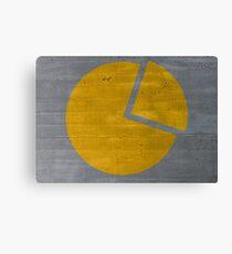 diagramm konzept auf zementsruktur hintergrund Canvas Print