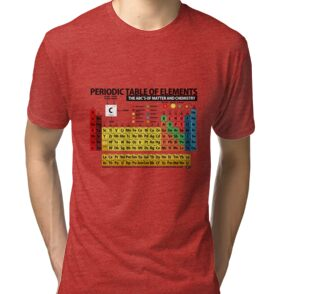 Periodic table of elements posters by objetdart redbubble tri blend t shirt urtaz Image collections