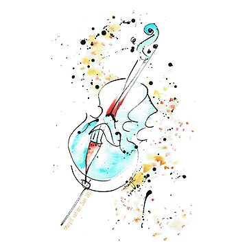 Música de violonchelo, creada con una pluma de ArtyMargit
