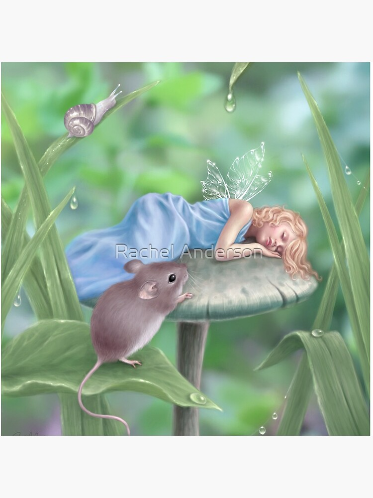 Sweet Dreams Sleeping Fairy & Mouse by silverstars