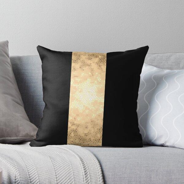elegant gold and black design Throw Pillow