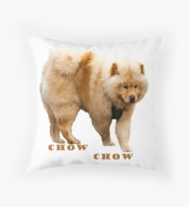 Chow Chow in Action: Colour Logo Throw Pillow