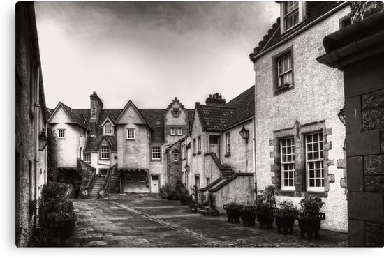 White Horse Close - B&W by Tom Gomez