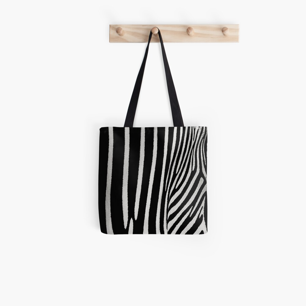Zebra Black And White Natural Design Tote Bag