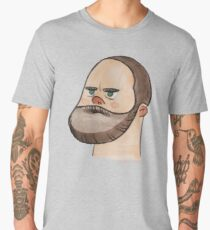 Serious Bearded Man - simple watercolour portrait illustration Men's Premium T-Shirt