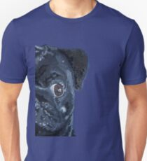 Pop Art Black Pug #01 T-Shirt