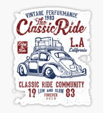 VW Beetle Car Retro Vintage Sticker