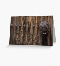 Rough and Rusty Vintage Wooden Door Greeting Card