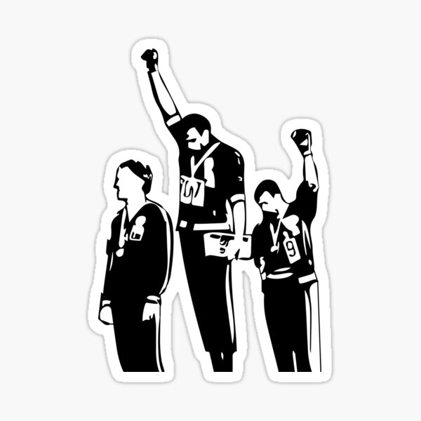 1968 Olympics Black Power Salute Sticker