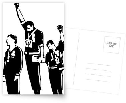 1968 Olympische Spiele Black Power Salute von thehiphopshop