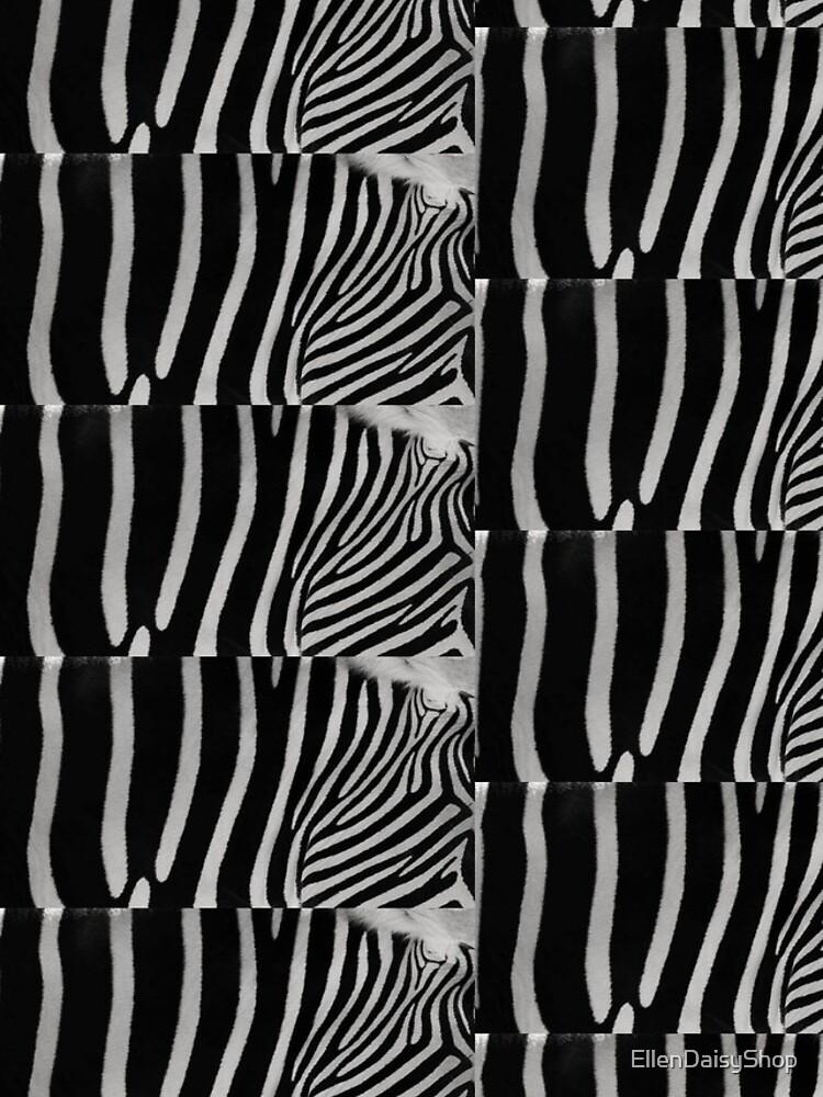 Zebra Natural Animal Design Black And White  by EllenDaisyShop