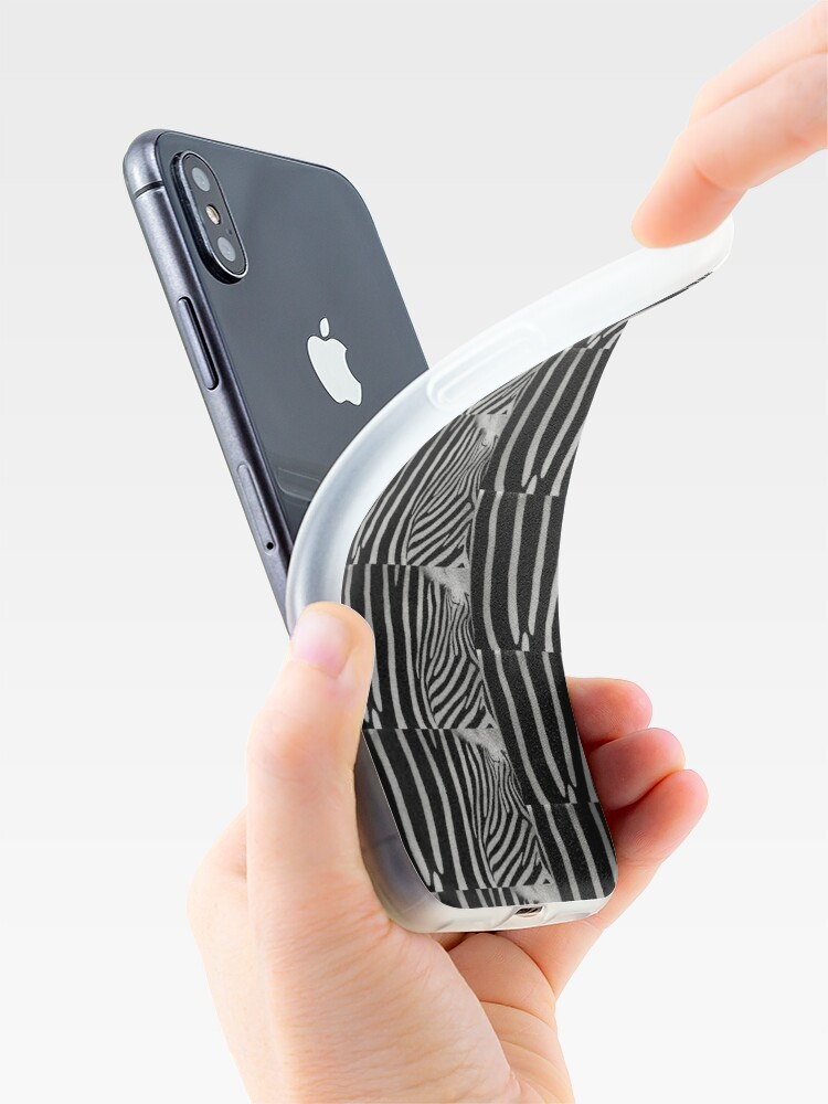 Alternate view of Zebra Natural Animal Design Black And White  iPhone Case & Cover