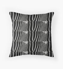 Zebra Natural Animal Design Schwarz und Weiß Bodenkissen