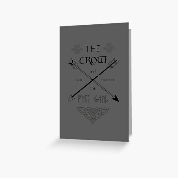 The Crow and the Free Girl Greeting Card