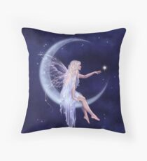 Birth of a Star Moon Fairy Throw Pillow