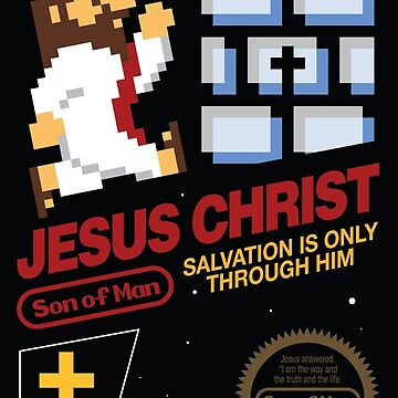 Jesus Christ NES 8bit by knollgilbert
