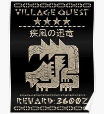 Monster Hunter Required - Nargacuga Poster
