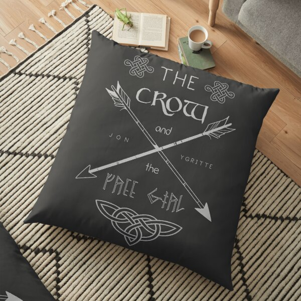 The Crow and the Free Girl - Light Floor Pillow